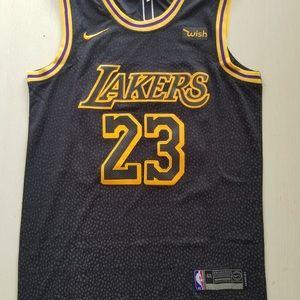 quality design d9905 717e2 Lebron James Black Lakers Jersey NWT